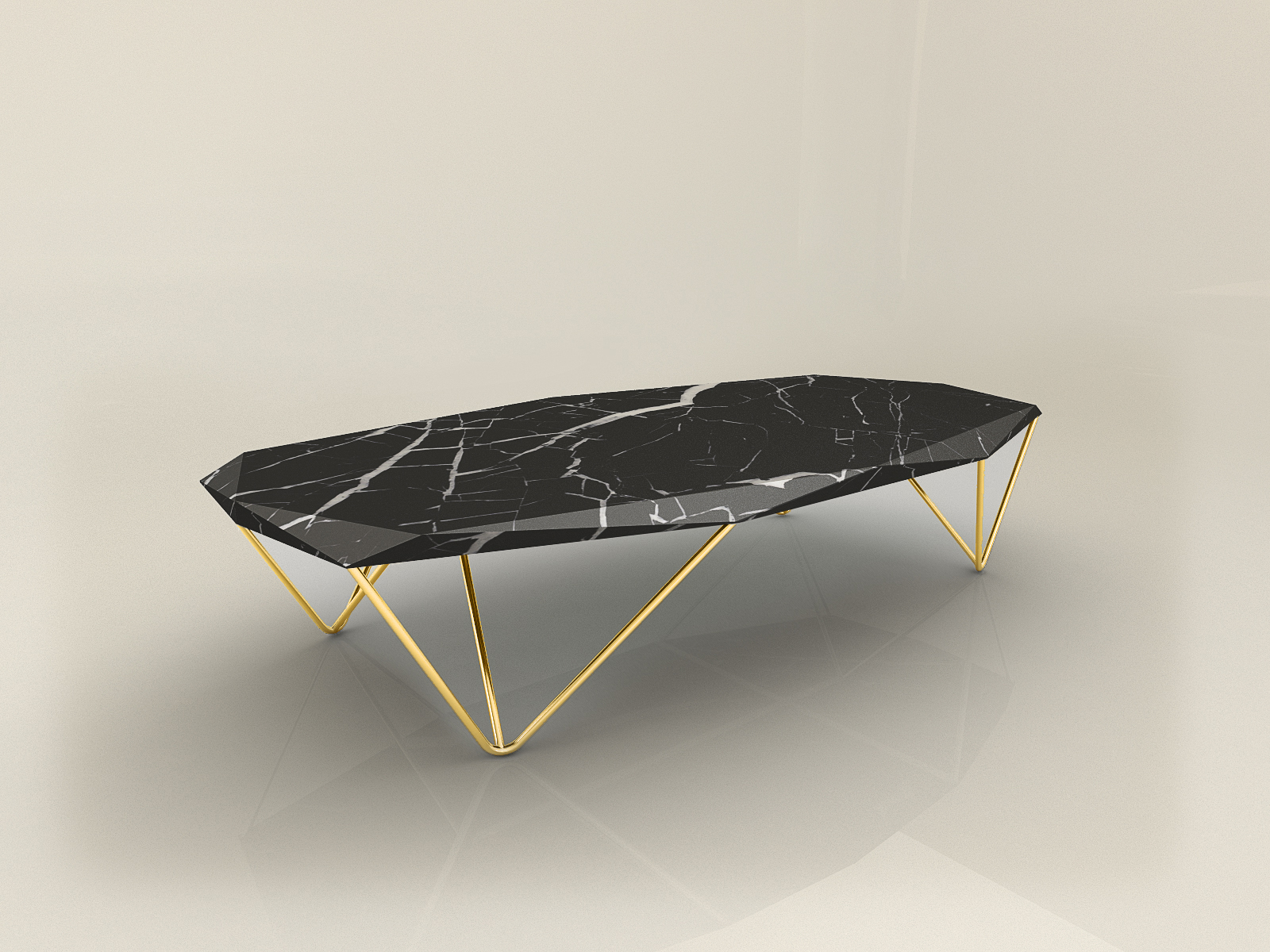 Liquid Marble coffee table by Daniel Zeisner EPOQUE